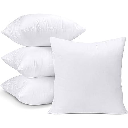 Utopia Bedding Coussins de Garnissage 35 x 35 cm (Lot de 4) - Coussin à Recouvrir - Oreillers Intérieur - Rembourrage Coussins - Housse en Mélange de Coton (Blanc)