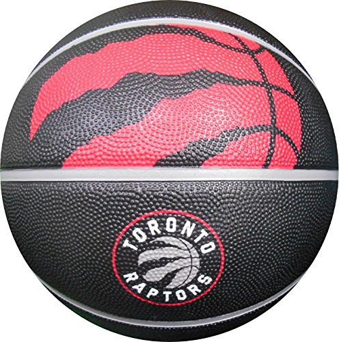 Spalding Toronto Raptors Courtside Rubber Outdoor Basketball, Size 7/29.5
