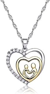 Mother's Birthday Gift Love Heart Necklace Jewelry for Women Mother¡¯s Day Gifts for Mom Mother Grandma Valentines Day Present for Mom