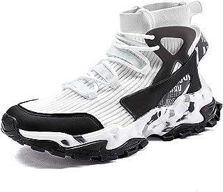 TFNYCT - Scarpe da ginnastica da uomo alte e alla moda, per camminare, jogging, atletica e attività all'aria aperta
