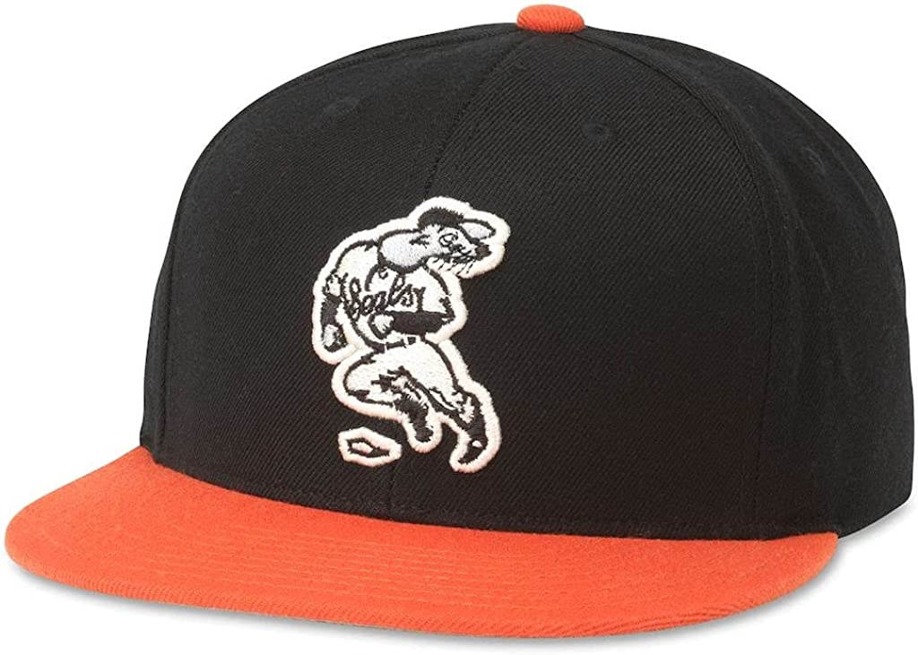 AMERICAN NEEDLE Archive 400 Series MiLB Baseball Team Hat, Adjustable Snapback Trucker Dad Cap