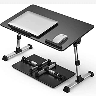 [Large Size] Laptop Bed Tray Table, Adjustable Laptop Stand, Portable Lap Desks with Foldable Legs, Notebook Standing Brea...