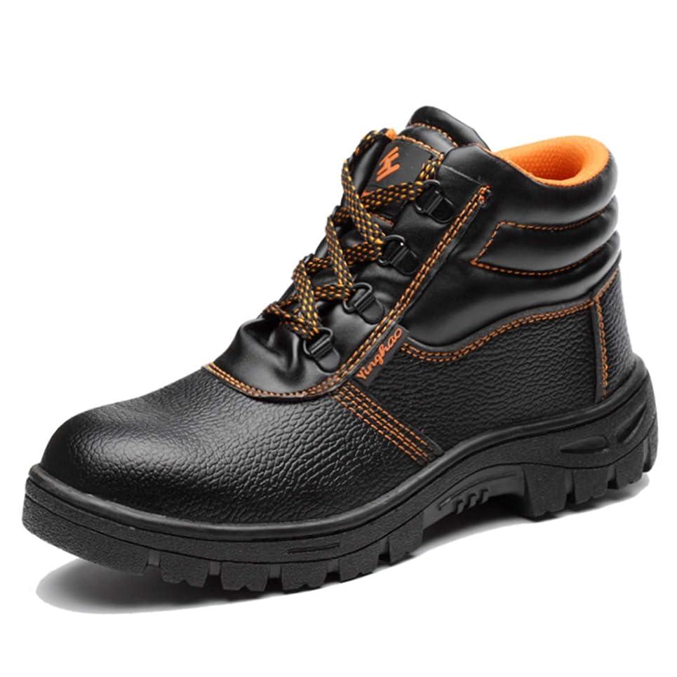 [ラ?モーダ] ハイカット 安全靴 作業靴 労働保険靴 先芯 つま先保護 通気性 防滑 耐摩耗 セーフティーシューズ 踏み抜き防止 メンズ