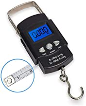Cofemy Fish Scale with Backlit LCD Display, Digital Portable Hanging Scale with Measuring Tape and Backlight LCD Display t...