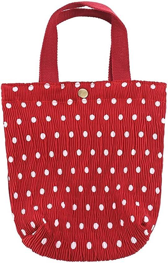 Emilykylie Women's Fresh gift Printed Wrinkled Fabric Handbag Bento Elegant V
