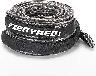 """Cuerda de cabrestante sintética 3/8"""" x 85' – 23809 libras cable de línea de cabrestante con chamarra de cuerda y funda de ..."""