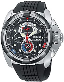 Seiko - SPC007P1 - Reloj cronógrafo de Cuarzo para Hombre con Correa de Caucho, Color Negro