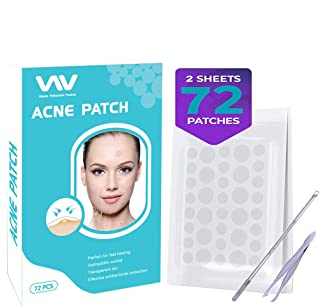 Acne Pimple Patch Healing Spot Patches, Hydrocolloid Acne Stickers Absorbing Spot Dot Acne Cover - Acne Dots Pimple Sticker Acne Pimple Master Patch Blemish Patches Acne Treatment, Set of 72pcs