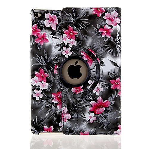 Eleoption Magnetic Smart Cover (Wake/Sleep Function) Case Screen Protector for Apple iPad Air 2 (Black)