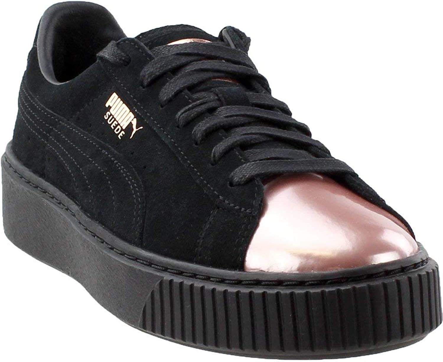 PUMA Womens Suede Platform pink gold Low-Top Athleisure Fashion Sneakers