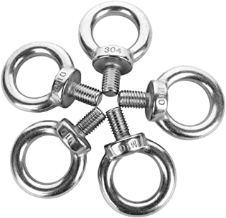 BTMB Stainless Steel Thread Machinery Shoulder Lifting Eye Bolt,Pack of 5 (M10)