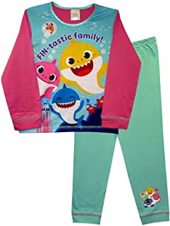 TDP Children's Kids Girls Baby Shark Pyjamas PJs Sleepwear