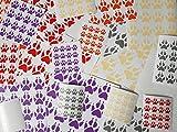 Sticker Set Aufkleber Set zum Gestalten Verschönern 32 Pfoten Hund Wolf Dog Paws