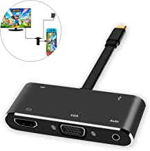 Defway USB C to HDMI Adapter, Replacement for Nintendo Switch Dock, 5 in 1 Multiport Hub Adapter, Type C to HDMI 4K, VGA, USB 3.0, Audio with PD2.0, Supports Samsung Dex, MacBook Pro, Chromebook Pixel
