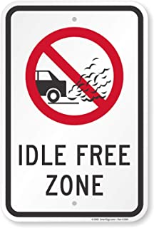 Ufcell Notice Sign 8x12 Inch Idle Free Zone Sign Street Signs for Road Door Decor