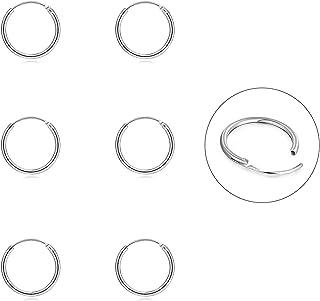 Silver Hoop Earrings- Cartilage Earring Endless Small Hoop Earrings Set for Women Men Girls,3 Pairs of Hypoallergenic 925 ...