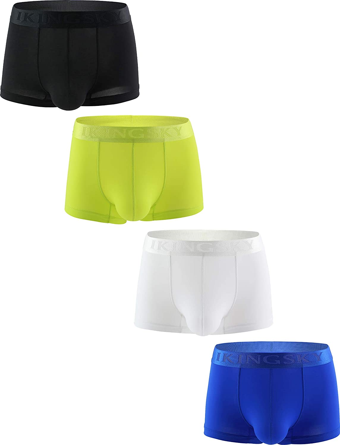 IKINGSKY Men's Spotry Boxer Shorts Sexy U-Hance Pouch Underwear Low Rise Pouch Under Panties