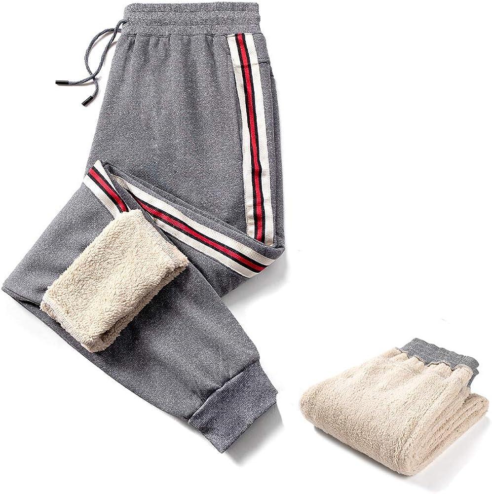 Aotorr Homme Pantalon Jogging Rayure Tricolores Casual Pantalon de Surv/êtement Slim Fit