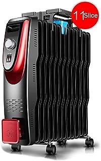 DAETNG Radiador portátil pequeño Lleno de Aceite, diseño liviano, termostato, Corte de Seguridad térmica, Cable Largo con rebobinador práctico, Secado de Ropa y humidificación,11-B