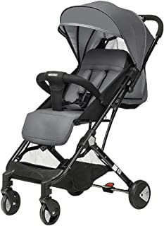 Baby Stroller with Rain Cover Can Sit Reclining Backboard High Landscape Foldable Variable Trolley Baby Carriage 360 \u200b\u200bDegree Four Wheel Rotation with Shock Absorber Tourism Can Ca