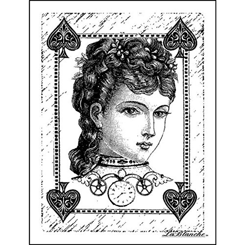 Lablanche Silikon Stempel 3Zoll x 4-inch-Sweet Poker Face