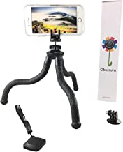 Flexible mini iphone tripod and stand with Bluetooth remote by Obsccura heavy duty 5-pound weight capacity and truly bendable great for all cell phone tablets dslr camera camcorders and GoPro