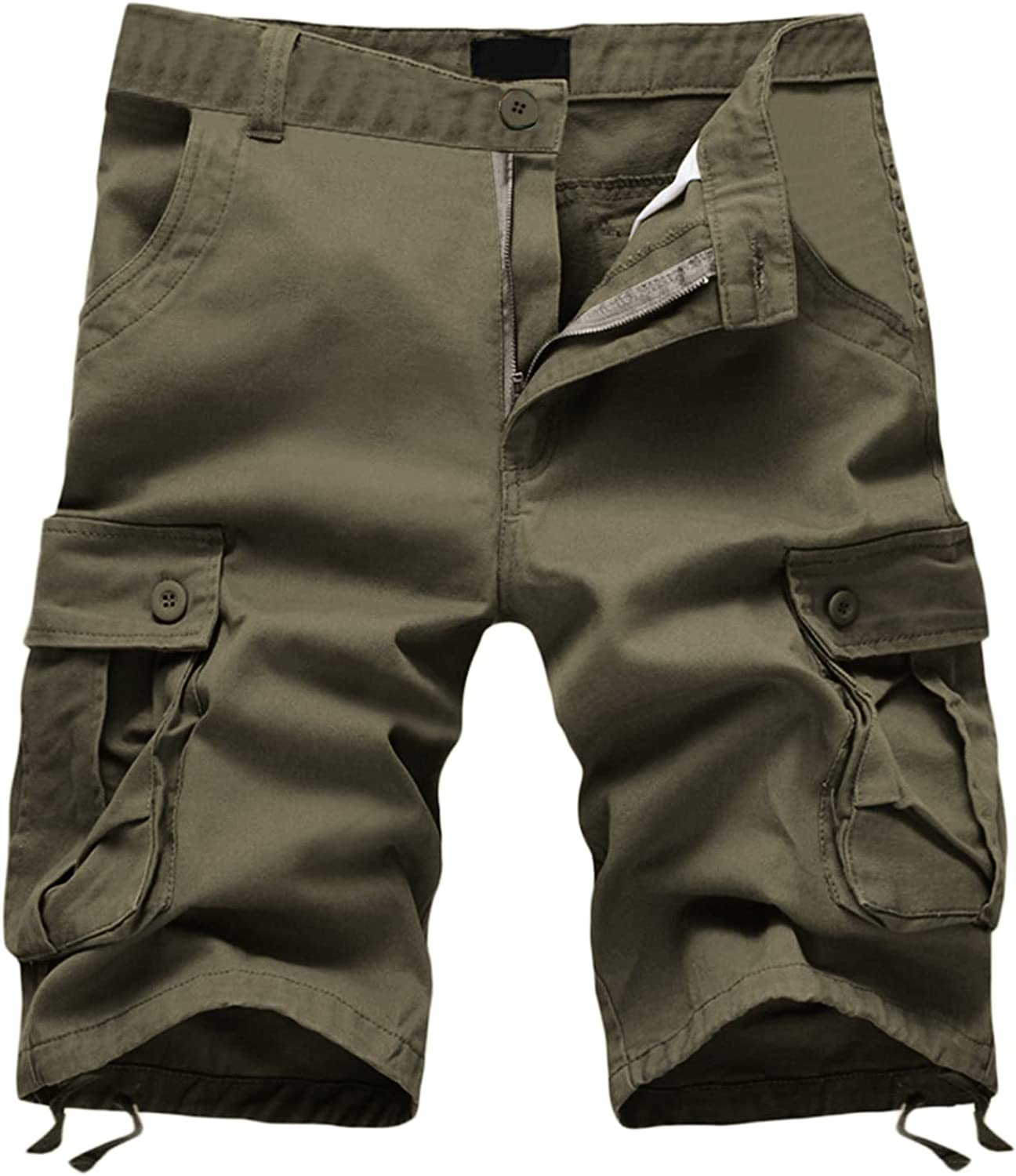 JSPOYOU Men's Cargo Shorts Elastic Relaxed Fit Max 81% OFF Waist Mesa Mall Multi-Pocke