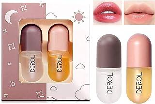 2 st naturliga läpppumpar naturlig makeup läppglans läppvård läppbalsam serum kit derol läpp plumpar dag och natt läppglan...