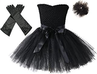Tutu Dreams 80s Rockstar Tutu Costume with Gloves and Headwear Outfit Set Halloween Carnival Party
