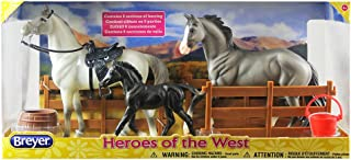 Breyer Freedom Series (Classics) Heroes of The West 3 Horse Playset | Model Horse Toy | 1:12 Scale (Classics) | Model #61098