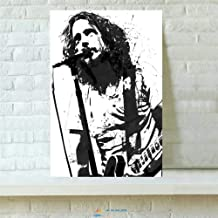 Zjhart HD Printed Oil Paintings Home Wall Decor Art on Canvas,Chris Cornell Poster 3size#392 (Framed,16x24inch)