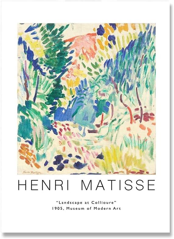Póster de Matisse, póster de exposición de Matisse, pintura mural abstracta, decoración moderna del hogar, pintura en lienzo sin marco A6 50x70cm