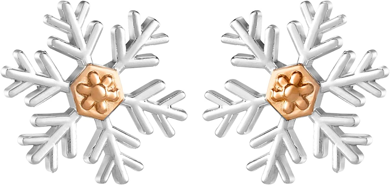 Cheap SALE Start Disney Frozen Luxury goods Snowflake Stud Earrings in Sterling Silver