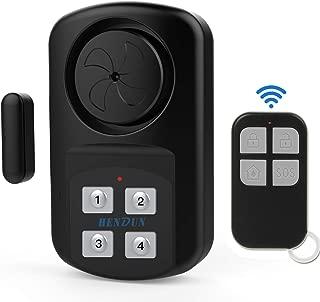 HENDUN Outdoor Waterproof Door Alarm with Remote, Gate Alarm Sensor, Weatherproof IP67,140 dB Super Loud, Pool Door Alarm for Kids Safety, Wireless Contact Alarm,Entrance Alert