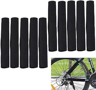 【YOUGHENY】 チェーンプロテクター フレームステッカー カバー 自転車用保護アクセサリー 10個セット 黒 耐摩耗 取付簡単