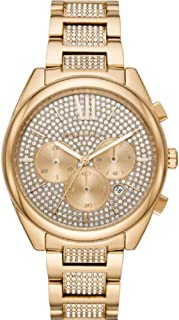 Michael Kors Janelle Gold-Tone Pavé Glitz Women's Watch MK7097