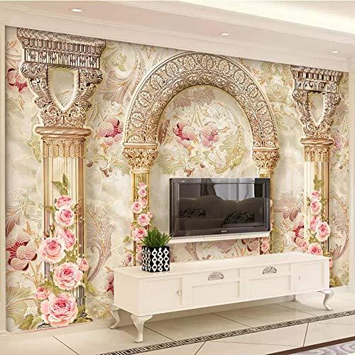 3D Stereo Blumen Marmor Benutzerdefiniert Jede Größe Wandbilder Tapete Tapete Wohnzimmer TV Sofa Hotel Luxus Wohnkultur-150Cmx105Cm