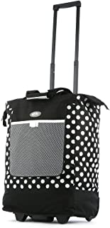 Luggage Rolling Printed Shopper Tote, Black, One Size
