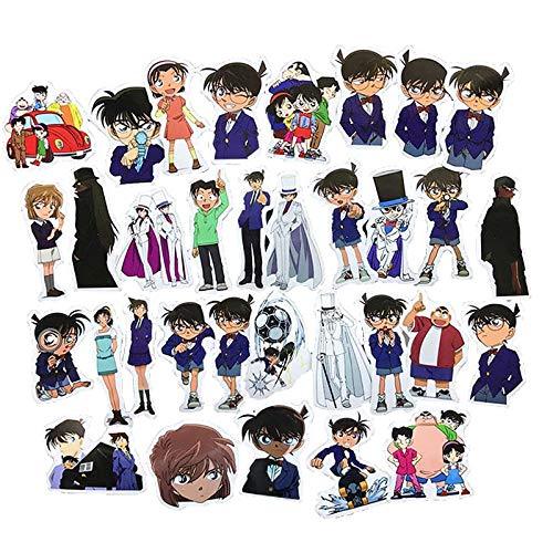 Chutoral 33 Stück Anime-Detektiv-Aufkleber, wasserdicht, Vinyl-Aufkleber, kein Duplikat für Auto, Gepäck, Computer, Kühlschrank