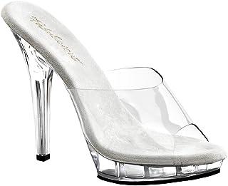 8aeb65b6d3 Summitfashions 5 Inch Cute Clear Shoe High Heel Open Toe Shoe Low Platform