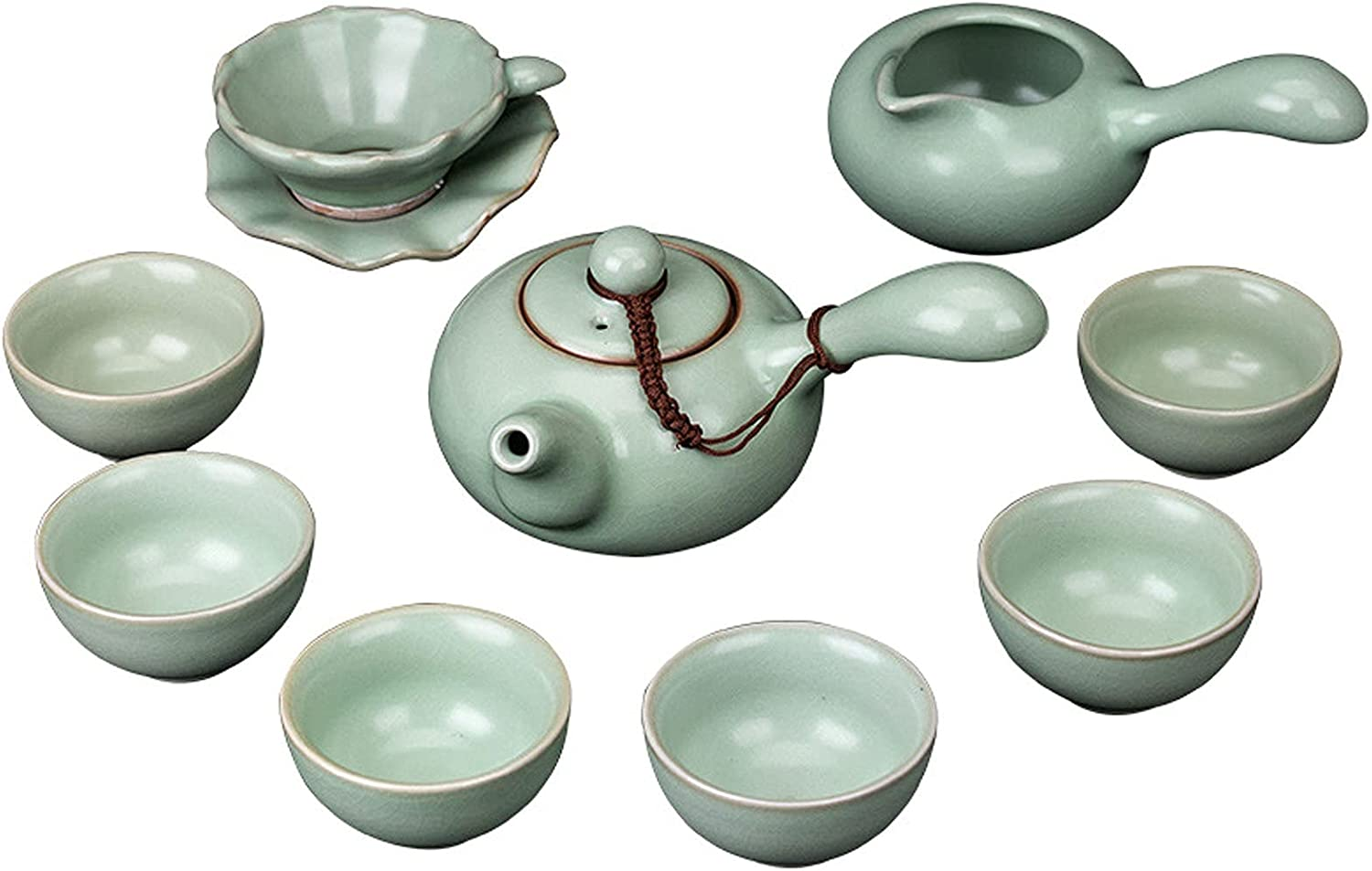 Chinese Tea Set Service 9-Piece Sales results No. 1 Porcelain Ch Tea-for-one Over item handling