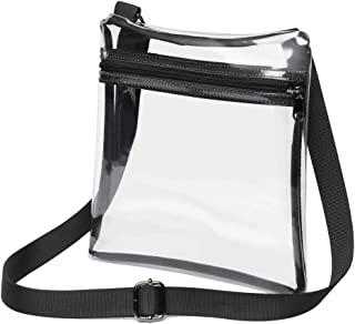 Clear Crossbody Purse Bag NFL Stadium Approved Clear Bag for Women and Man