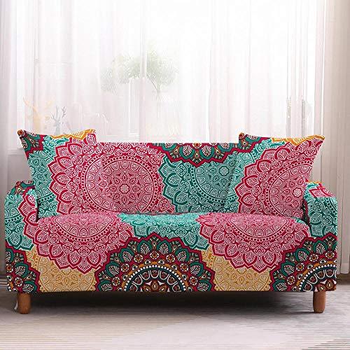 Cubierta Sofa con Cuerda De Fijación Sofá 1-4 Plazas Bohemia Fundas para Sofá Funda para Sofá Toalla para Muebles Sillón Protector Sofás-4-Plazas_Color2