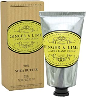 Naturally European Ginger And Lime Luxury Hand Cream Boxed 20% Shea Butter 75ml   Free From Parabens and SLS   For Sensati...