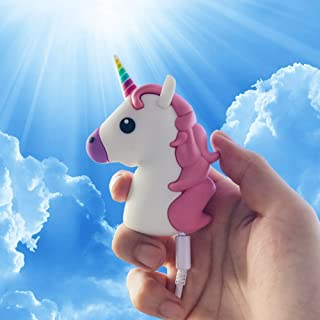 Unicorn Emoji Stuff Portable Charger by JACK CHLOE, 2600mAh 5V/1.5A Adorable Unicorn Emoji Power Bank for Phone X / 8/7 / 7 Plus / 6s / 6s Plus/Android Phone and More