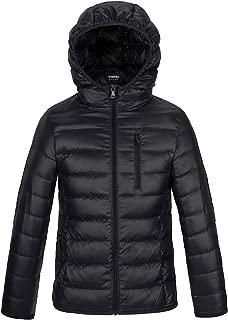 Boy's Lightweight Packable Down Jacket Hooded Winter Coat