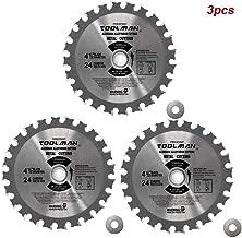 Lion Tools 3STH027 Toolman Premium Multifunctional Carbide-Tipped Circular Saw Blade Universal Fit 4-1/2
