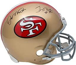Joe Montana Jerry Rice San Fransisco 49ers DUAL Signed Autograph Proline Authentic On Field Full Size Helmet JSA Witnessed Certified