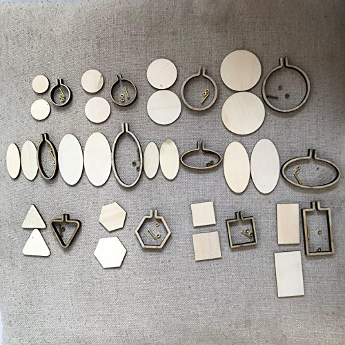 DIY Mini Embroidery Hoop Frame - Miniature Embroidery Hoops - DIY Tiny Hoop Kit - Mini Hoop Frame -DIY Necklace Tiny (12pcs differents Size)