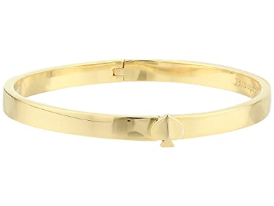 Kate Spade New York Heritage Spade Thin Metal Spade Button Bangle (Gold) Bracelet